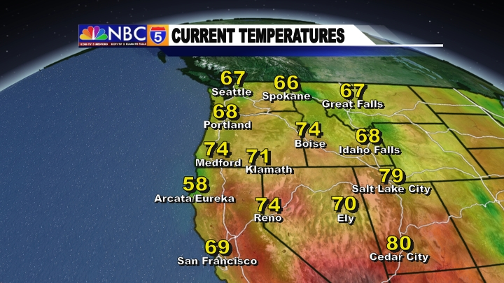 Weather Graphics KOBITV NBC KOTITV NBC - Us map with current temperatures